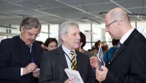 Professor Mag. Michael Mair von der FH Wien, Prof. Dr. Gerald Wetzel von der University of Applied Sciences Baltic College Schwerin und Prof. Dr. Alfred Merl von der FH München (v.l.n.r.)