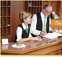 Brigitte und Bernd Adam (Inhaber des Hotels Reussischer Hof)