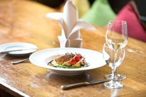 Gericht im Restaurant Seehaus Forelle