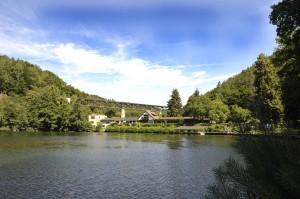 Panoramablick auf das Hotel/ Restaurant Seehaus Forelle