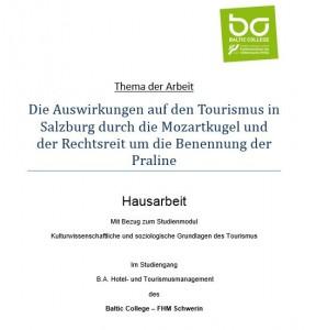 Hausarbeit im Modul Kulturwissenschaftliche und soziologische Grundlagen des Tourismus von Cindy Gahl
