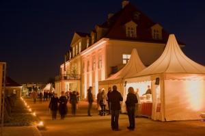 Festgelände von Schloss Wackerbarth im Advent (Quelle: HOGASPORT GmbH)