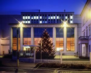 Radeberger Exportbierbrauerei in weihnachtlichen Glanz (Quelle: HOGASPORT GmbH)